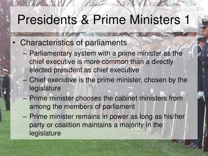Presidents prime ministers 1
