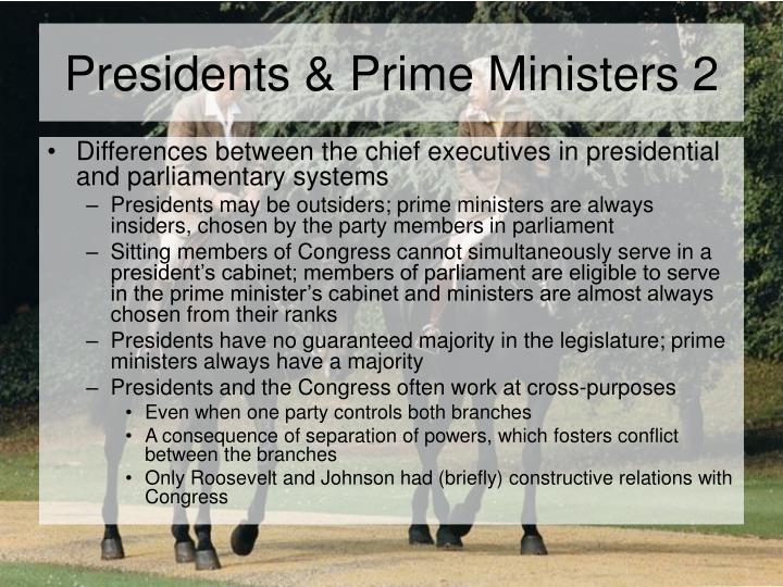 Presidents prime ministers 2