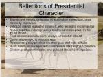 reflections of presidential character