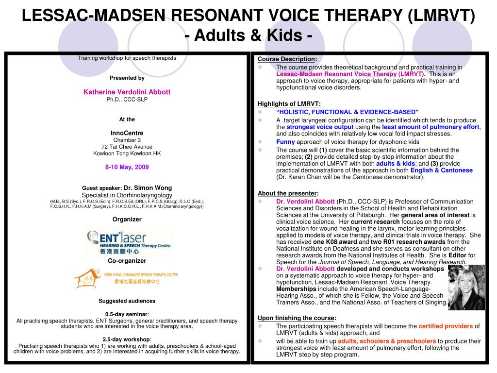 lessac madsen resonant voice therapy lmrvt adults kids l.