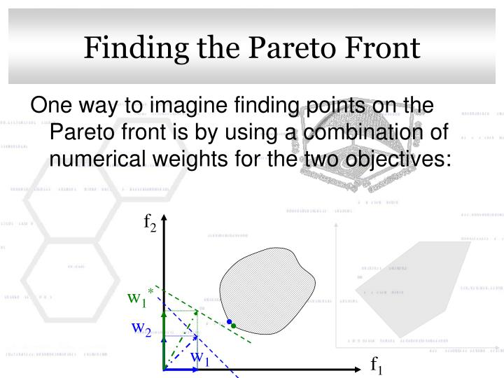 Finding the Pareto Front