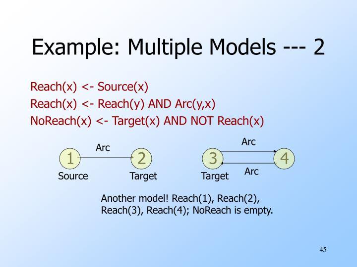 Another model! Reach(1), Reach(2),