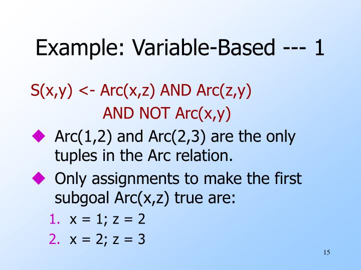 Example: Variable-Based --- 1