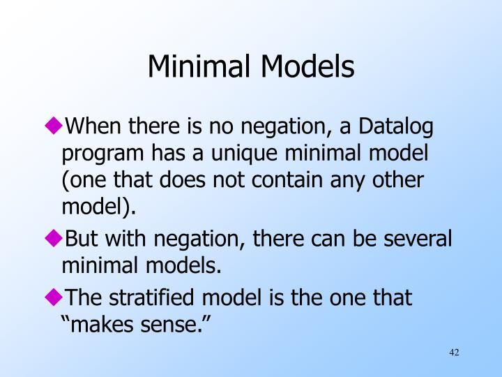 Minimal Models