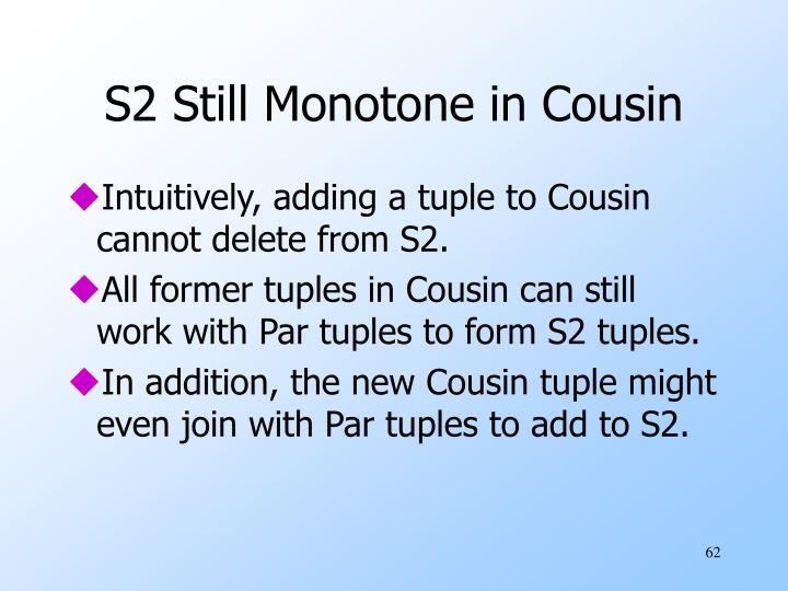 S2 Still Monotone in Cousin