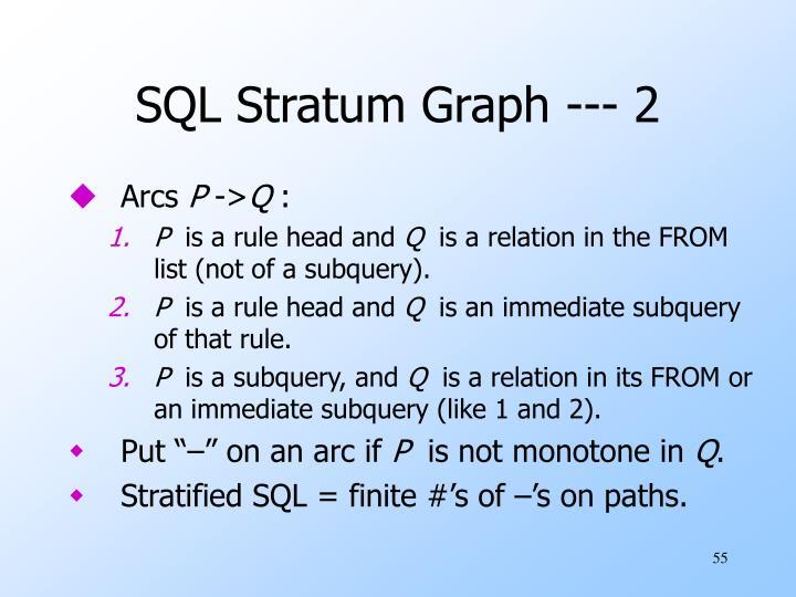 SQL Stratum Graph --- 2