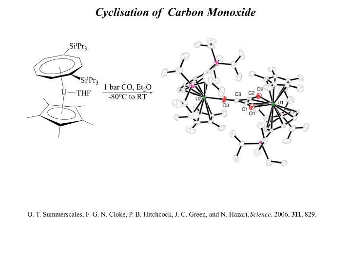 Cyclisation of  Carbon Monoxide