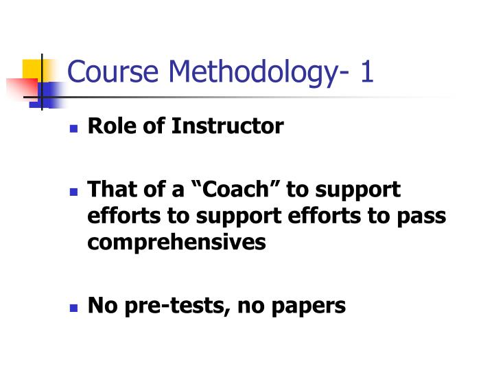 Course methodology 1