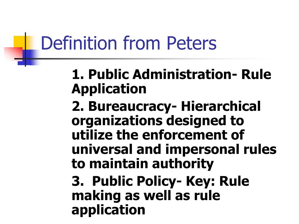 Definition from Peters