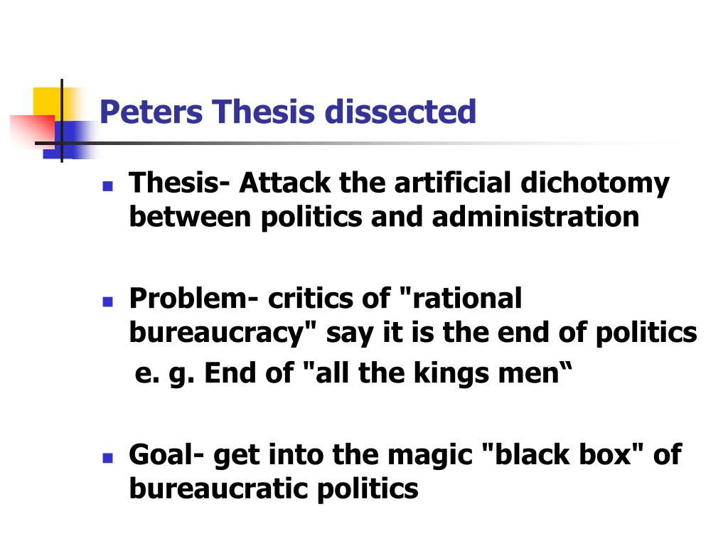 Peters Thesis dissected
