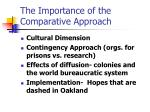 the importance of the comparative approach