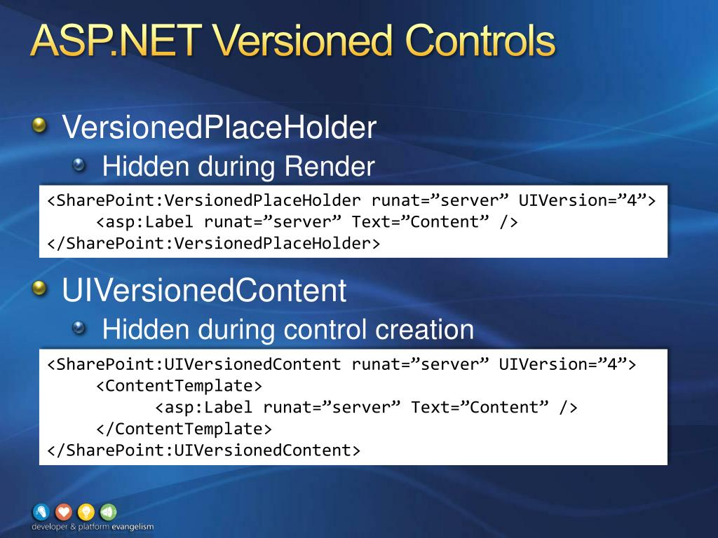 ASP.NET Versioned Controls