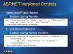 asp net versioned controls