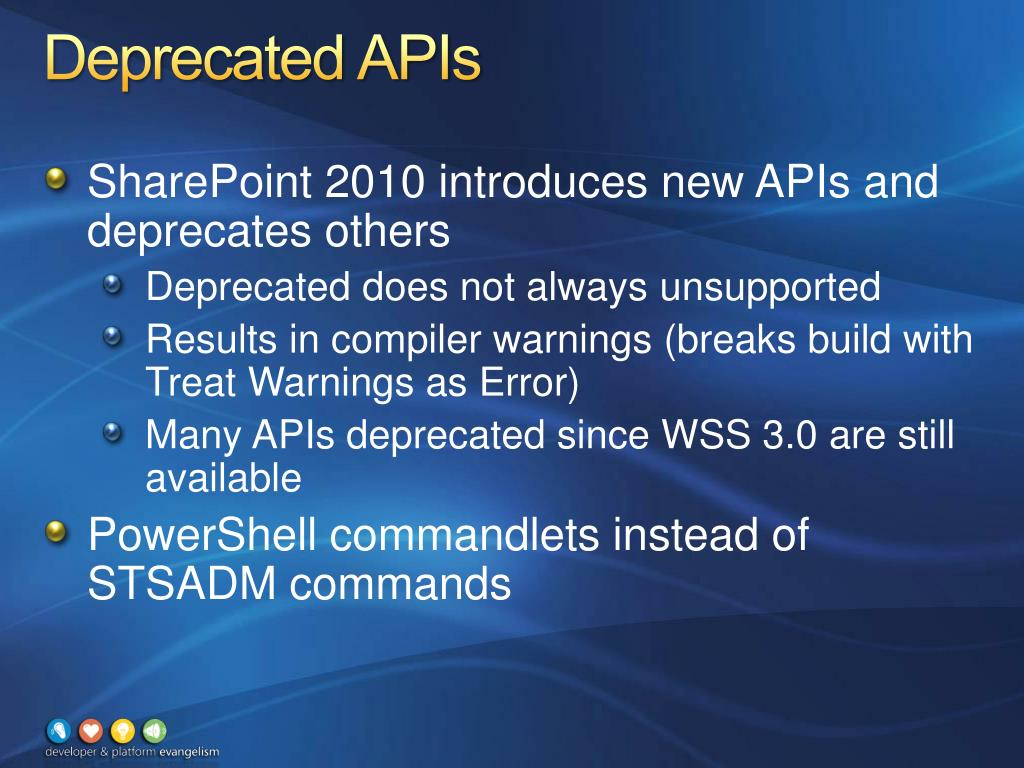 Deprecated APIs