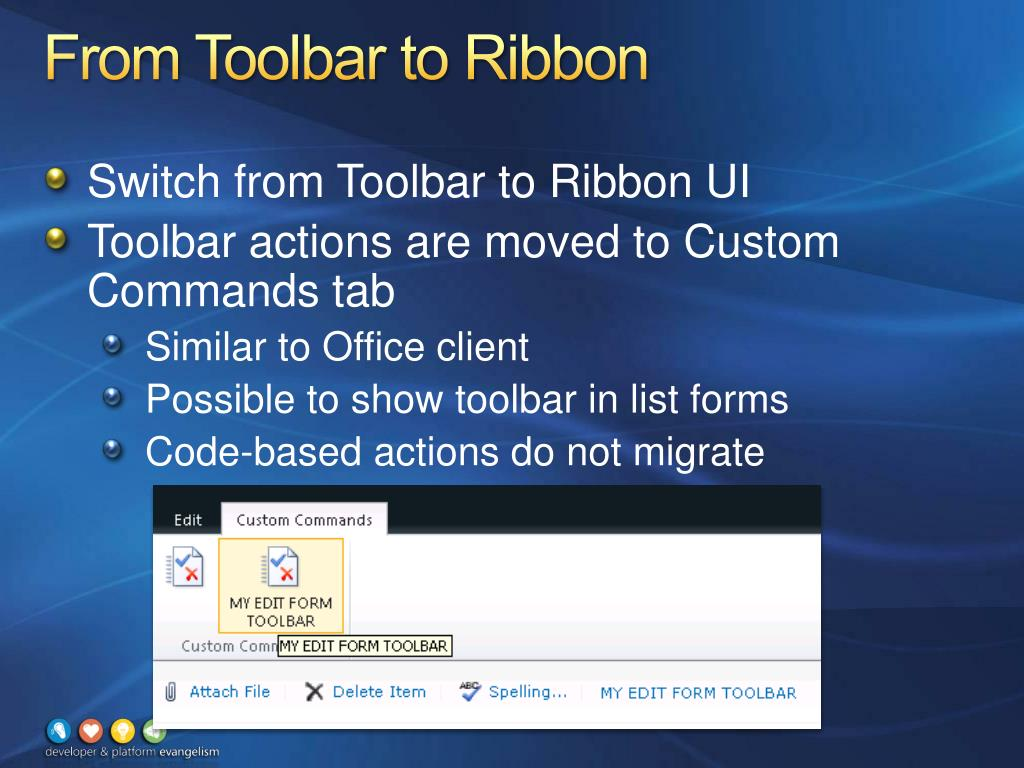 From Toolbar to Ribbon