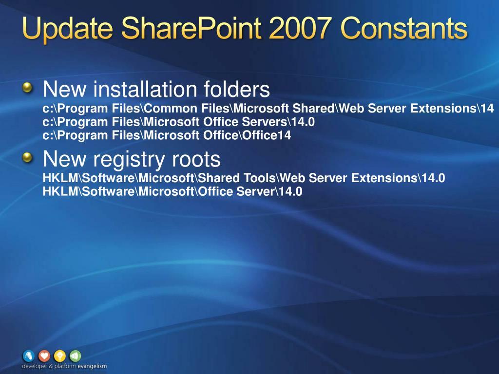Update SharePoint