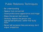 public relations techniques1