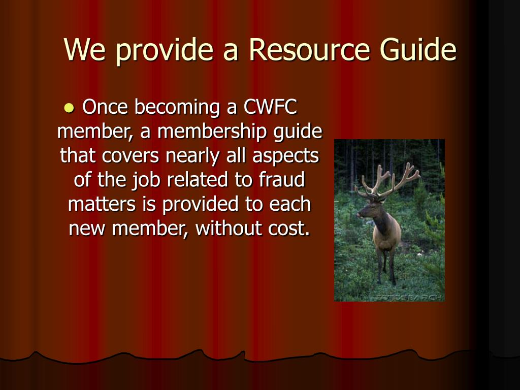 We provide a Resource Guide