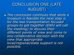conclusion one late august