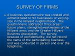 survey of firms