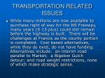 transportation related issues