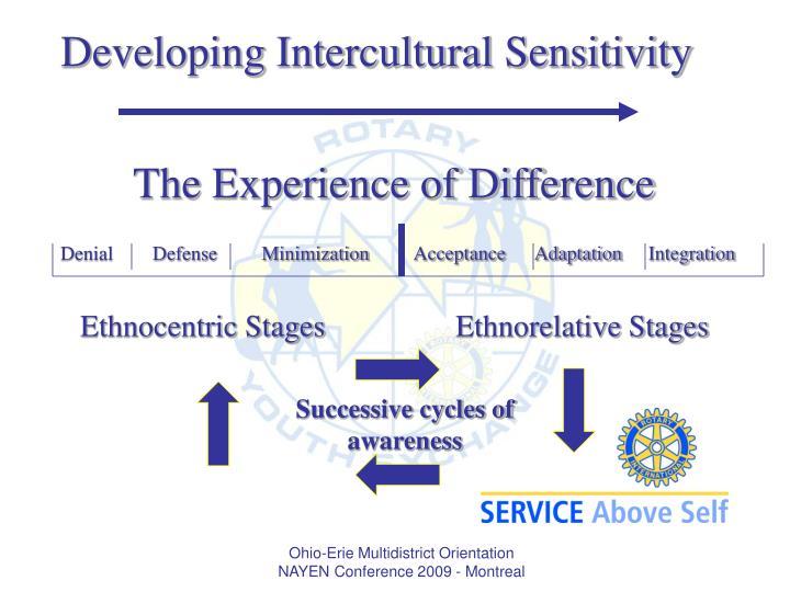 Developing Intercultural Sensitivity