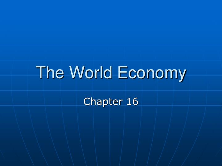 the world economy n.