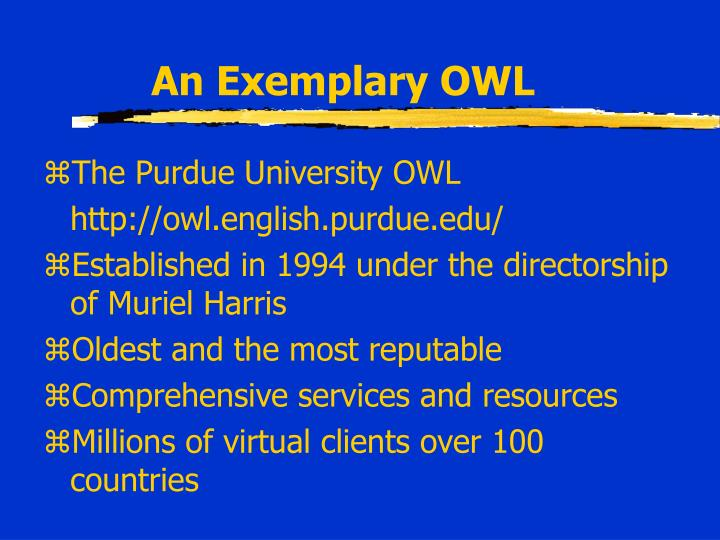 An Exemplary OWL