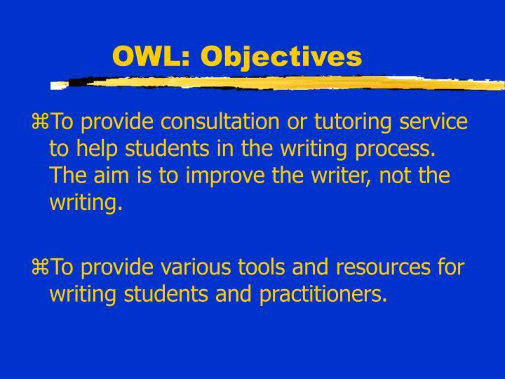 OWL: Objectives
