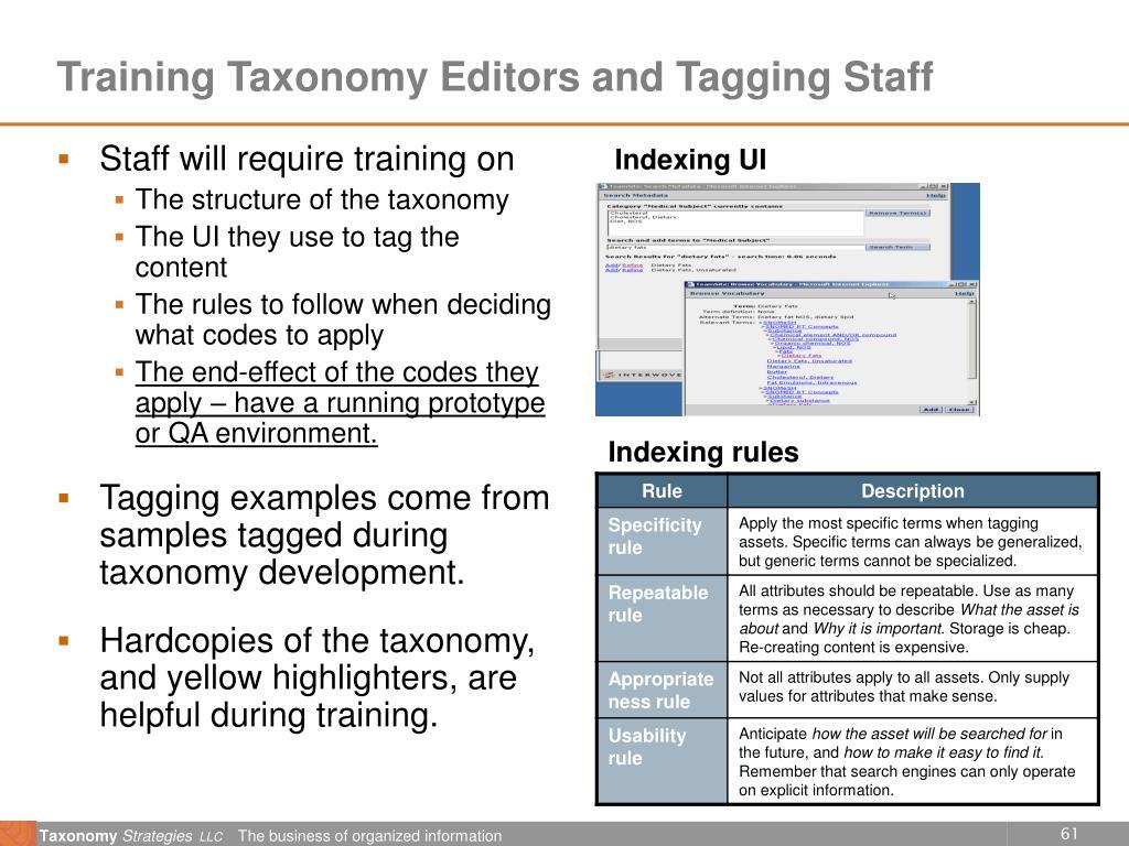 Indexing UI