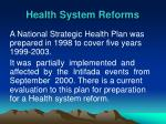 health system reforms
