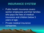 insurance system