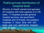 public private distribution of hospital beds