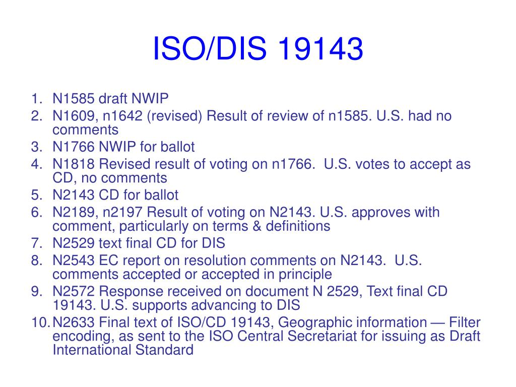 ISO/DIS 19143