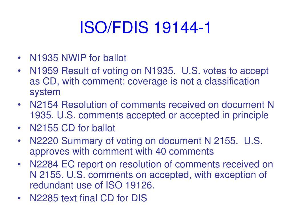ISO/FDIS 19144-1