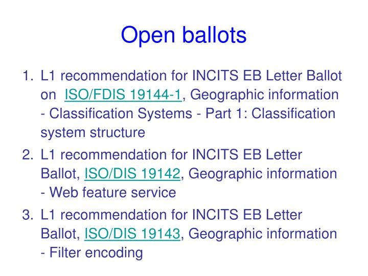 Open ballots