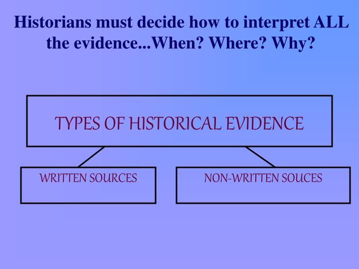 types of historical evidence n.