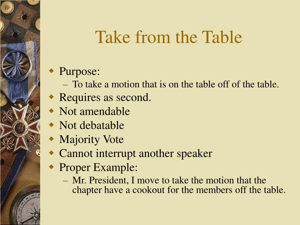 Take from the Table