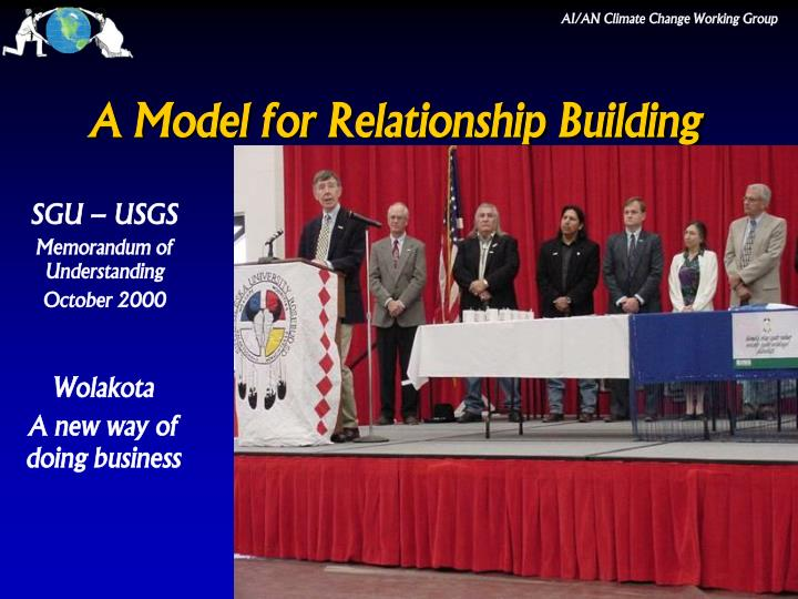 A model for relationship building