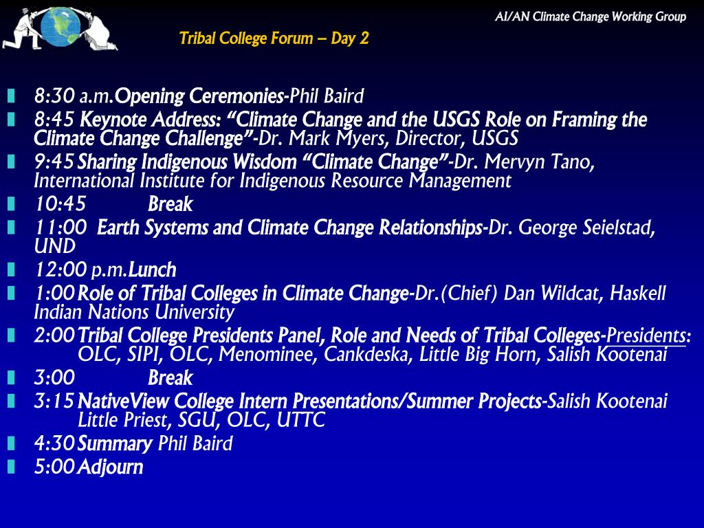 Tribal College Forum – Day 2