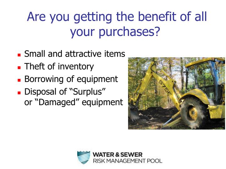 Are you getting the benefit of all your purchases?