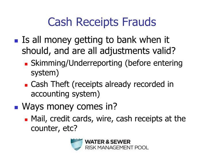Cash Receipts Frauds