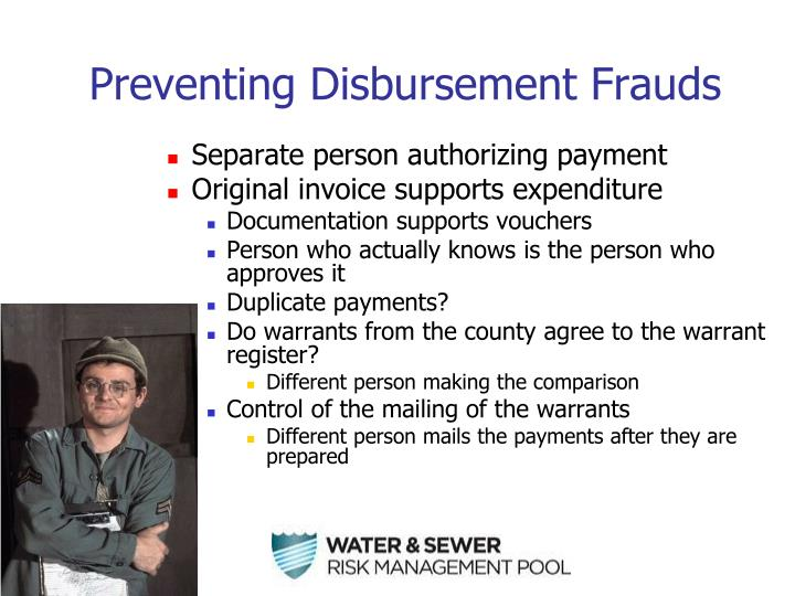 Preventing Disbursement Frauds
