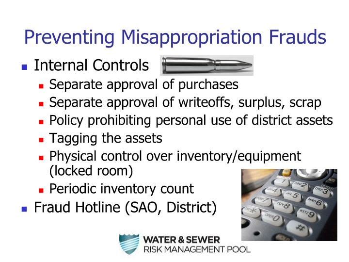 Preventing Misappropriation Frauds