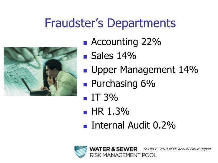 Fraudster's Departments