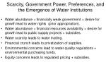 scarcity government power preferences and the emergence of water institutions
