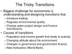 the tricky transitions