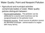 water quality point and nonpoint pollution
