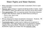 water rights and water markets
