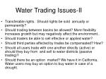 water trading issues ii